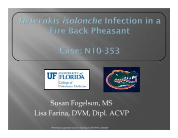 Susan Fogelson, MS Lisa Farina, DVM, Dipl. ACVP