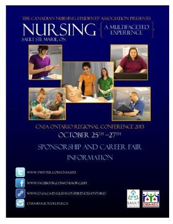 Sponsorship Package - The Canadian Nursing Students' Association