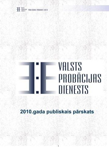Valsts probācijas dienests 2010. gada ... - Tieslietu ministrija