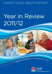 SLHD Year in Review 2011/12 - Sydney Local Health District - NSW ...