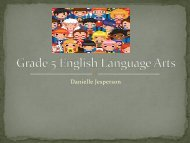Grade 5 English Language Arts - Yinghua Academy