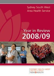2008-09 Year in Review - Sydney Local Health District