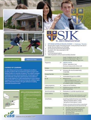 St. John's-Kilmarnock School - Canadian International Student ...