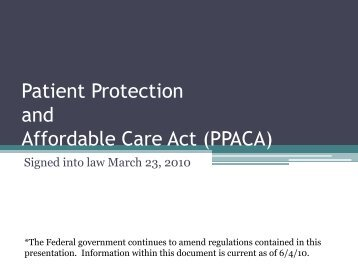 Patient Protection and Affordable Care Act - Lovelace Health Plan