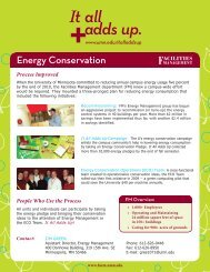 View FM's It All Adds Up, Energy Conservation at the U flyer here