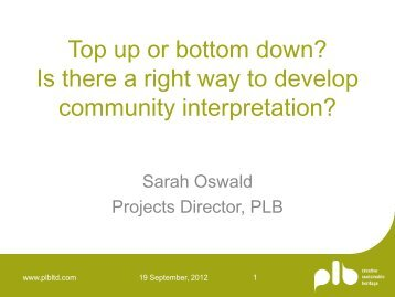 Top up or bottom down? Is there a right way to develop ... - PLB
