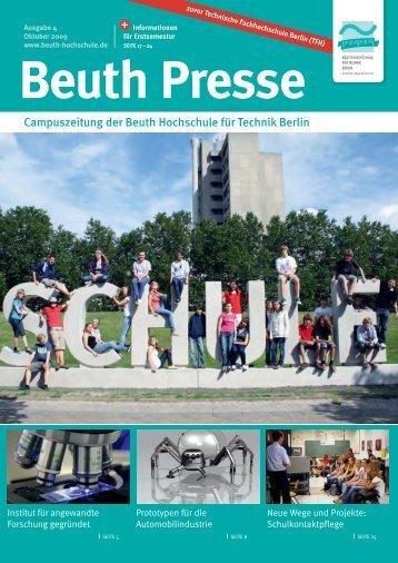 Beuth Presse 4/2009 - Beuth Hochschule für Technik Berlin