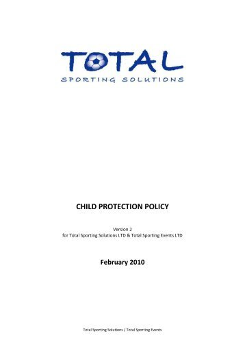 child protection policy template total sporting solutions