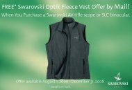 Swarovski AV SLC Vest Promo Coupon - SportOptics