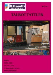 May newsletter - Beaumaris Theatre