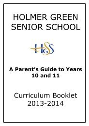 to Download Curriculum Booklets for years 10 and 11
