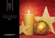 YULEFEST CELEBRATIONS AT FAIRMONT RESORT 2013