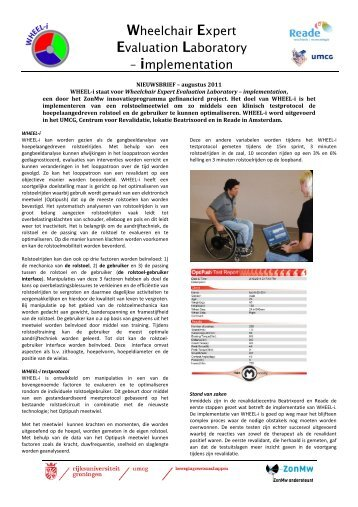 Wheelchair Expert Evaluation Laboratory – implementation - scionn.nl