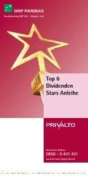 Top 6 Dividenden Stars Anleihe - BNP Paribas