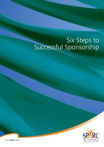4990 six steps to successful sponsorship - Sport New Zealand