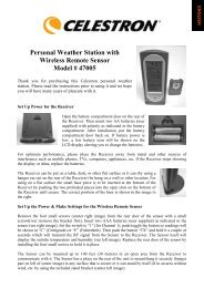 Personal Weather Station with Wireless Remote Sensor ... - Celestron