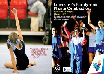 Leicester's Paralympic Flame Celebration - Inspire LeicesterShire