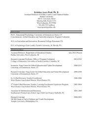 Vita - Gifted Education Resource Institute - Purdue University