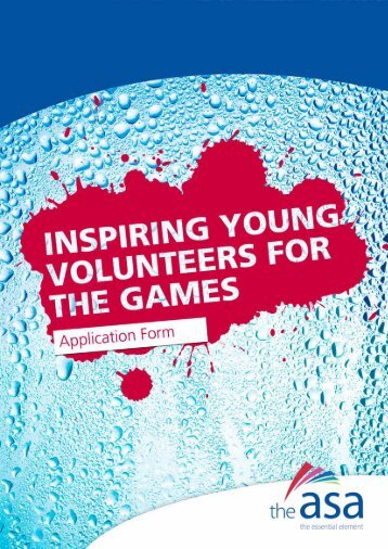ASA Inspiring Young Volunteers for the Games - Guidance Document