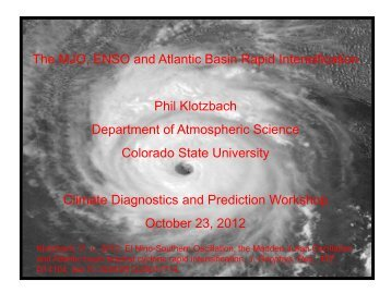 ENSO, the MJO and Atlantic Basin Rapid Intensification - Climate ...