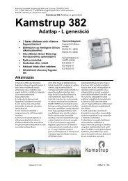 Kamstrup 382L_HU adatlap Rev D - Comptech Kft.
