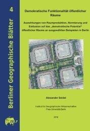4 Berliner Geographische Blätter - Freie Universität Berlin