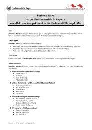 ein effektives Kompaktseminar für Fach- und Führungskräfte - HIMS