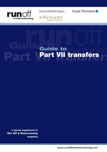 ROR21 PART VII TRANSFERS - Run-off & Restructuring