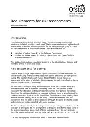 Requirements for risk assessments