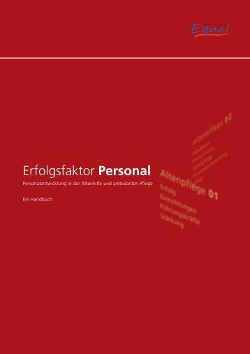 Einführung von Personalentwicklung in der ... - Equal Altenhilfe