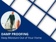 Damp Proofing - Prevention of Moisture and Mildew