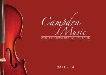 Campden Music 2013/2014 Programme