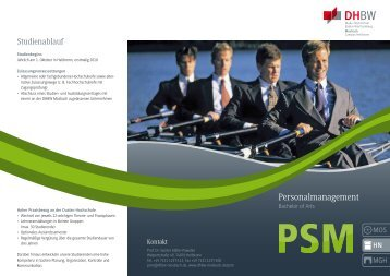 Flyer Personalmanagement - DHBW Mosbach