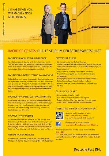 bachelor of arts: duales studium der betriebswirtschaft