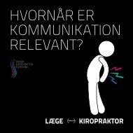 hvornår er kommunikation relevant? - Dansk Kiropraktor Forening