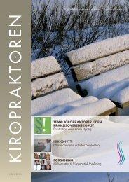 kiropraktoren nr 1 2010 - Dansk Kiropraktor Forening