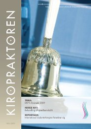 kiropraktoren nr 6 2009 - Dansk Kiropraktor Forening