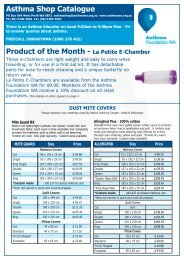 Product of the Month - La Petite E-Chamber Asthma Shop Catalogue