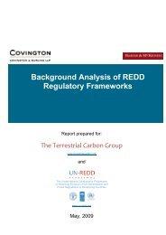 Background Analysis of REDD Regulatory Frameworks - Terrestrial ...
