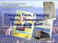 Changing Faces, Changing Places: Demographic Trends of the South