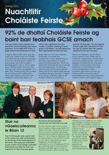 Read More..... - Coláiste Feirste