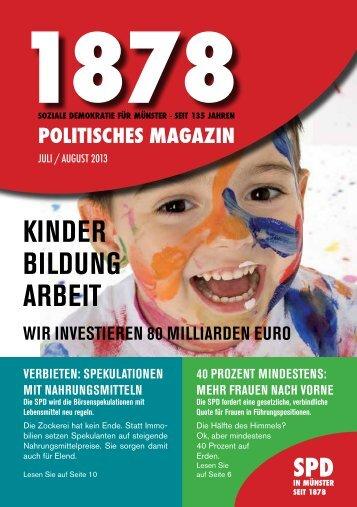 1878 - Politisches Magazin der SPD-Münster - Christoph Strässer