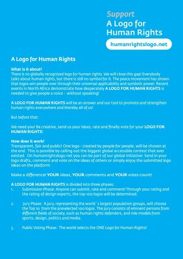 A Logo for Human Rights Support