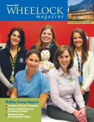 magazine - Wheelock College