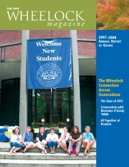 Fall 2008 - Wheelock College