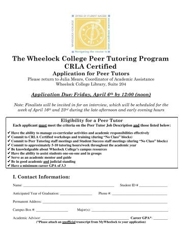 Tutoring & Study Skills Program