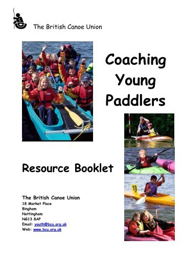 Coaching Young Paddlers Resource Booklet - Canoe England