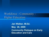 Workforce - Community - Higher Education - Wheelock College