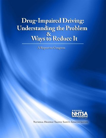 Reducing Impaired Driving Recidivism - NHTSA