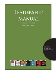LEAdERShiP MANUAl - Precept Ministries